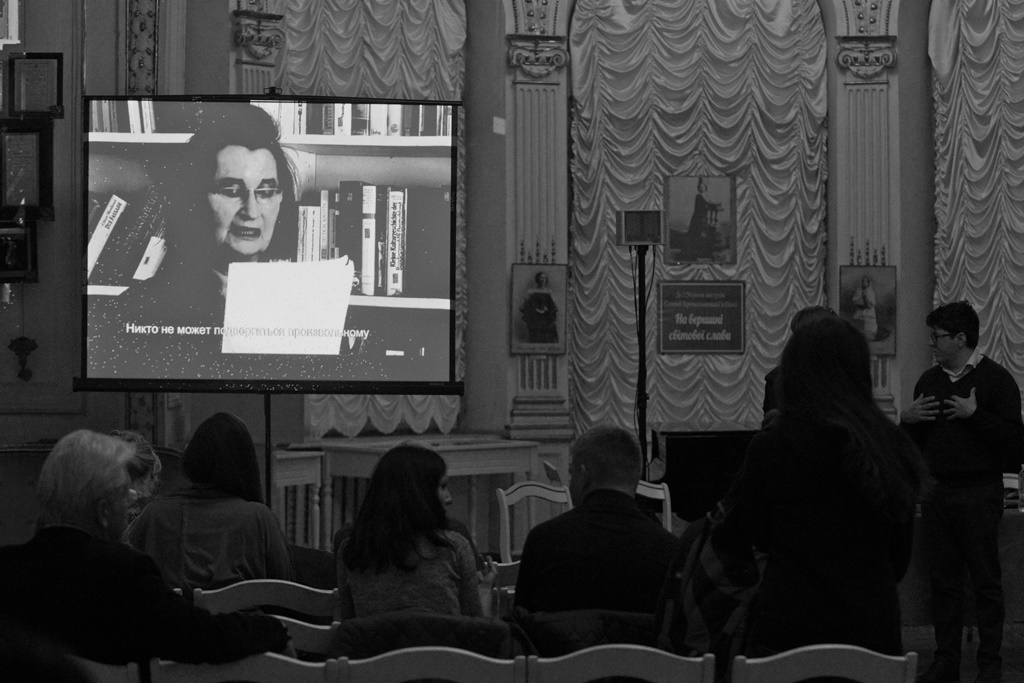 """What matters"" film screening in Odessa  © Hartwig Klappert"